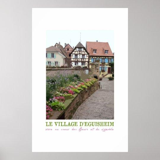 Eguisheim, France Vintage Poster
