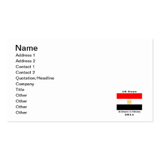 Egypt 18Days CUART Pack Of Standard Business Cards