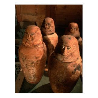 Egypt, 26th dynasty Canopic jars found in Abu Postcard