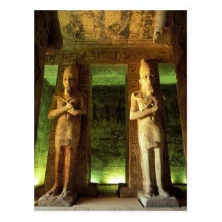 Egypt, Abu Simbel, Statue of Ramesses II, Postcard