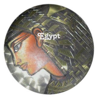 Egypt Art Dinner Plates