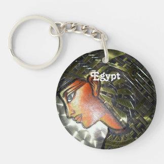 Egypt Art Single-Sided Round Acrylic Key Ring