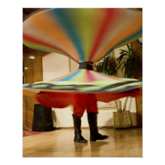 Egypt, Cairo. Whirling dervish dazzling GCT Poster