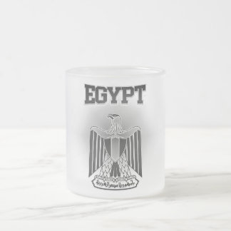 Egypt Coat of Arms Frosted Glass Coffee Mug