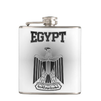 Egypt Coat of Arms Hip Flask