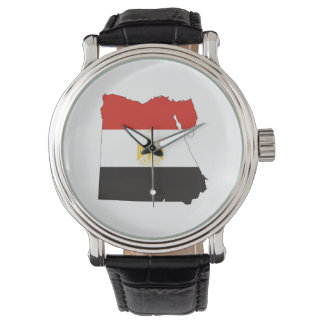 egypt country flag map wrist watch