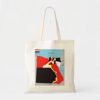 Egypt country political map flag bags