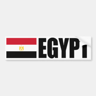 Egypt Flag Bumper Sticker