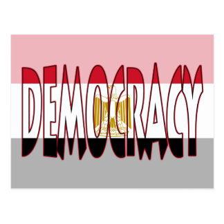 Egypt Flag - Democracy Postcard