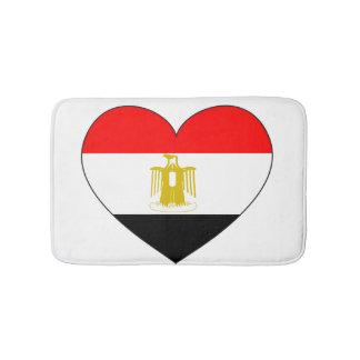 Egypt Flag Heart Bath Mat