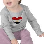 Egypt Flag Heart T-Shirt