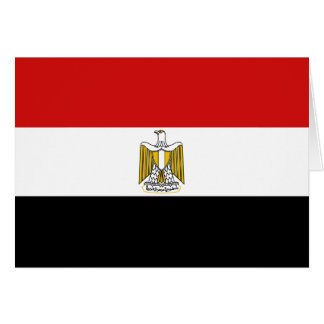 Egypt Flag Notecard Greeting Cards