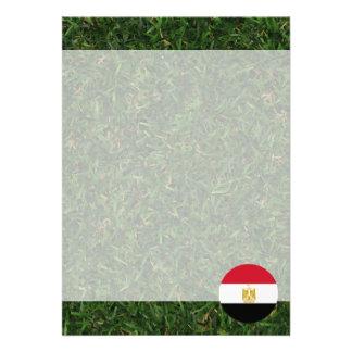 Egypt Flag on Grass 13 Cm X 18 Cm Invitation Card