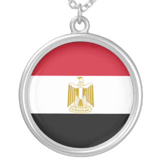Egypt Flag Silver Plated Necklace
