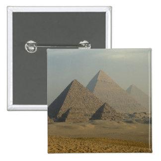 Egypt, Giza, Giza Pyramids Complex, Giza Plateau 15 Cm Square Badge