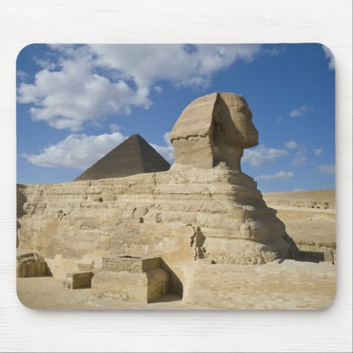 Egypt, Giza. The great Sphynx rises above the 2 Mousepad