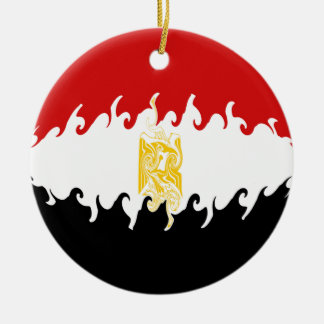 Egypt Gnarly Flag Round Ceramic Decoration