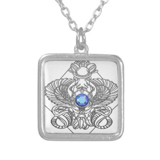 Egypt Gods torus Silver Plated Necklace
