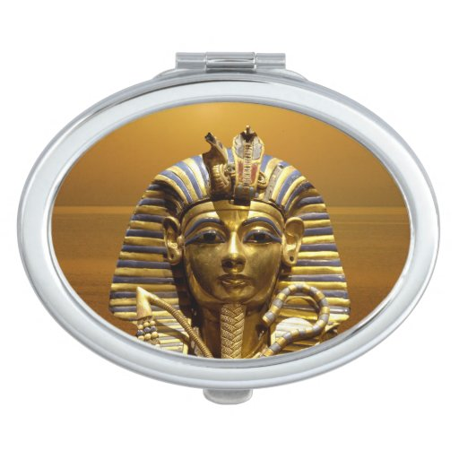 Egypt King Tut Oval Compact Mirror