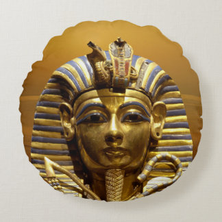Egypt King Tut Round Throw Pillow Round Cushion