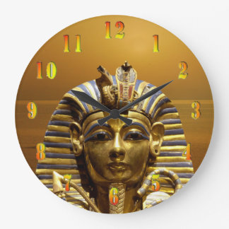 Egypt King Tut Round Wall Clock Large
