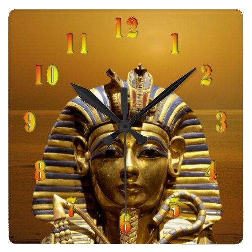 Egypt King Tut Square Wall Clock