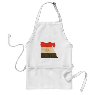 EGYPT MAP and FLAG Adult Apron