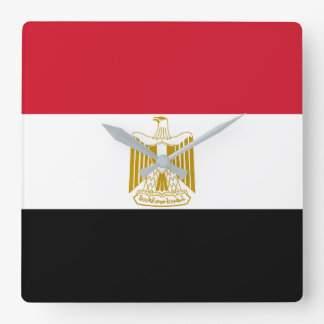 Egypt National World Flag Square Wall Clock
