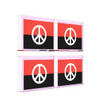 Egypt Peace Flag Wrapped Canvas Stretched Canvas Prints