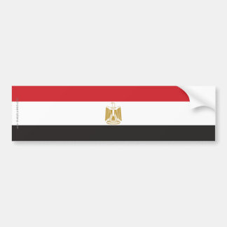 Egypt Plain Flag Bumper Sticker