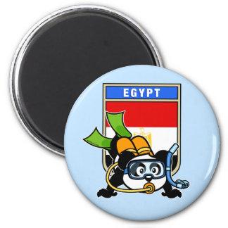 Egypt Scuba Diving Panda Magnet