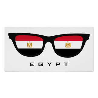 Egypt Shades custom text & color poster
