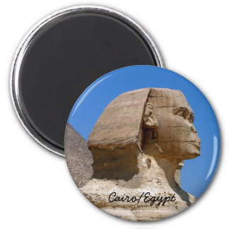 Egypt, Sphinx, Ancient Cairo II (Magnet) 6 Cm Round Magnet