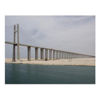 Egypt, Suez Canal. Bridge of Peace aka Peace Postcard