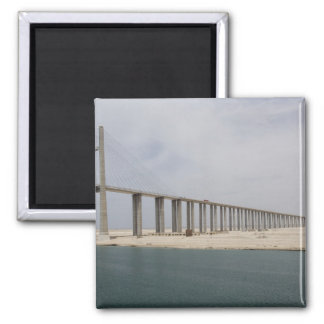 Egypt, Suez Canal. Bridge of Peace aka Peace Square Magnet