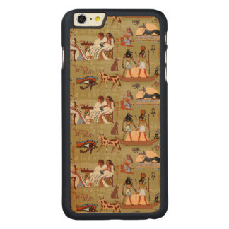 Egypt | Symbols Pattern Carved Maple iPhone 6 Plus Case