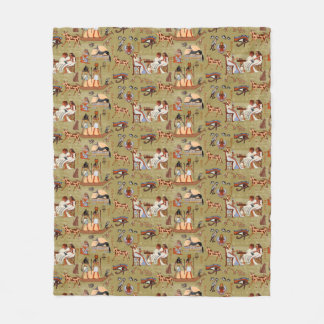 Egypt | Symbols Pattern Fleece Blanket