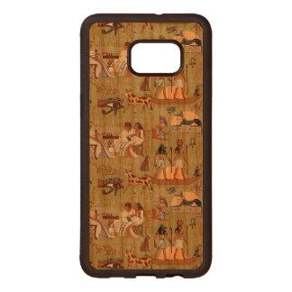 Egypt | Symbols Pattern Wood Samsung Galaxy S6 Edge Case