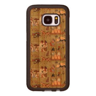 Egypt | Symbols Pattern Wood Samsung Galaxy S7 Case