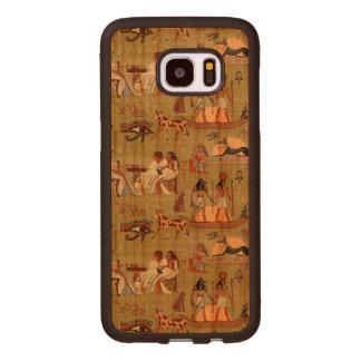 Egypt | Symbols Pattern Wood Samsung Galaxy S7 Edge Case