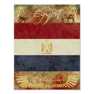 Egypt Table Number Poster