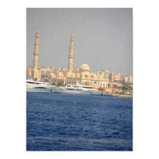 Egypt view 17 cm x 22 cm invitation card