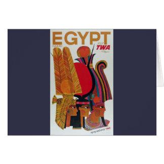 Egypt Vintage Air Travel Ancient Culture Tourism Card