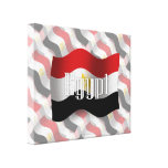 Egypt Waving Flag Gallery Wrapped Canvas