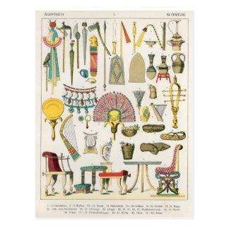 Egyptian Accessories, from 'Trachten der Voelker' Postcard