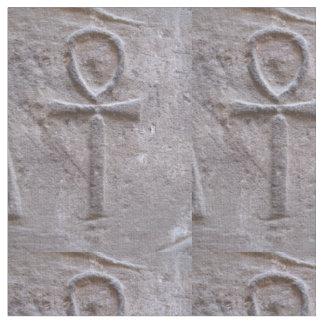 Egyptian Ankh hieroglyphic symbol of eternal life Fabric
