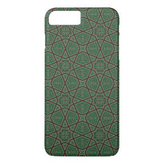 Egyptian arabic geometric pattern in brown green iPhone 7 plus case