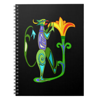 Egyptian Art With Lotus Flower Spiral Notebook