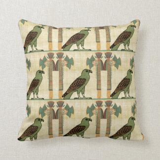 Egyptian Bird Throw Pillow