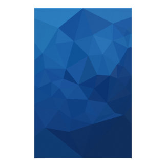 Egyptian Blue Abstract Low Polygon Background Customized Stationery